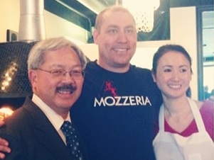 Mayor Lee with Melody and Russ Stein